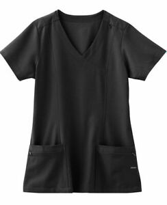 "Jockey Scrubs  Style 2306 V-Neck Detailed Scrub Top in ""Black""  Size XL"