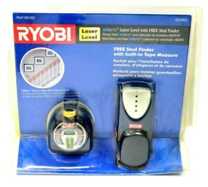 New Ryobi Laser Level with Airgrip Vacuum Base ELL0003 + Free Stud Finder Tape