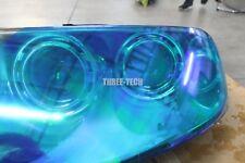 """Tint Vinyl Film Wrap 12""""x36"""" Neo Blue Chameleon for Custom Headlight Color Film"""