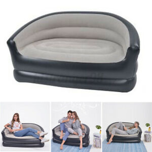 Inflatable Armchair Chair Camping Sofa Double Couch Portable Lounger Seat Relax
