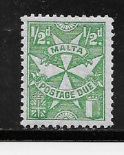Malta Stamps- Scott # J11/D2-1/2p-Mint/LH-1925-Postage Due-OG