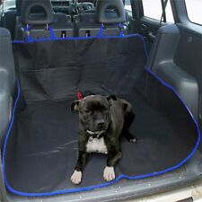 BLUE 2 IN 1 WATERPROOF CAR REAR BACK SEAT COVER PET DOG PROTECTOR BOOT MAT LINER