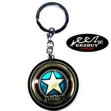 Marvel Comics Captain America Shield The Avengers Movie Pewter Key Chain Bronze