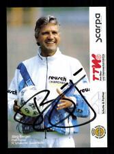 Jörg Berger Autogrammkarte FC Schalke 04 1994-95 Original  + A 193344