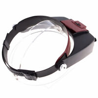 10X Magnifying Glass Head Band Magnifier with LED Light Repair Tool Loupe_s P3X7