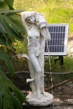 Garden Water Fountain Pond Feature Sculpture Girl with Solar Powered pump SL605