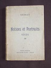 Sénat - Notices et portraits 1921