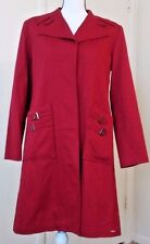 Ben Sherman Women's  Coat Size 10  Brick Red Rain Cotton Long