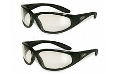 Two Hercules Clear Safety Lens Glasses Motorcycle Cycling Ski Sport Industrial