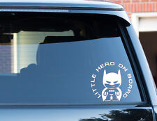 Little hero Batman Baby On Board Baby Child Window Bumper Car Sign Decal Sticker