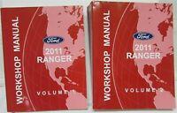 2011 Ford Ranger Pickup Truck Service Shop Repair Manual Set Vol 1 & 2