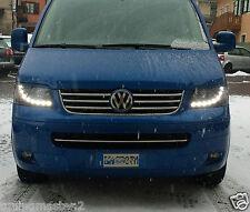 Fari Anteriori Dayline DRL Luci Diurne Volkswagen T5 03-> Neri CE87 tuning