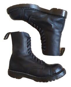 VEGETARIAN SHOES BOOTS VEGAN AIRSEAL STEEL TOE COMBAT BLACK UK 9 EU 43 RRP £179