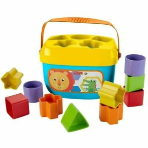 Free Ship, Fisher-Price Baby's First Blocks with Storage Bucket