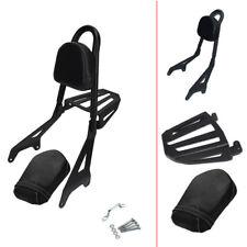 Passenger Backrest Sissy Bar Pad Luggage Rack For Yamaha Star Bolt XV950 XVS950