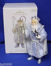 Hallmark Ornament Father Christmas #9 2012 Santa Claus in Pale Blue Robe Star