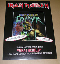 Iron Maiden Ed Hunter Double Sided 1999 Poster 18 x 24
