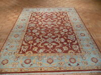8 X 10 Hand Knotted Brown/light Blue Oushak Oriental Rug G439