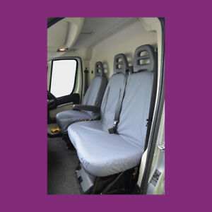 Fiat Ducato 2006+ Tailored Waterproof Grey Front Single and Double Seat Covers