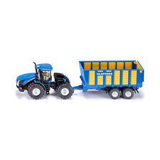 Siku 1947 New Holland T Knicklenker mit Silagewagen blau Maßstab 1:50 NEU! °