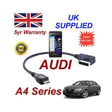 AUDI A4 Serie 4F0051510M CAVO PER BLACKBERRY Z10 MICRO USB Audio connessione