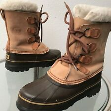 Sorel Caribou Boots Women's Size US 7 EUR 37-38 Buff Brown Model NL1000-220