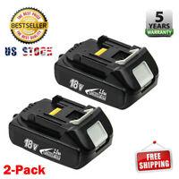 2PACK for Makita BL1820 Lithium-ion 18V Battery BL1815N LXT BL1830 BL1840 1.5Ah