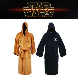 Star Wars Bathrobe Jedi Empire Cosplay Pajamas Dressing Gown Hooded Sleepwear