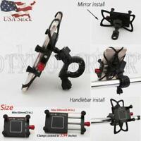 Black Universal Motorcycle Handlebar Cellphone Holder Bracket Mount GPS US Stock
