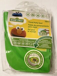 Sesame Street Framed Friends Green Folding Travel Potty Seat Portable Training