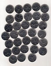 repubblica moneta 50 lire acmonital stock di 33 pezzi assortiti 17 euro -