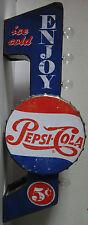 Pepsi-Cola Flange Metal Can Sign