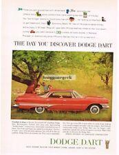 1960 Dodge DART PHOENIX Vermillion 4-door Hardtop Out For A Picnic VTG PRINT AD