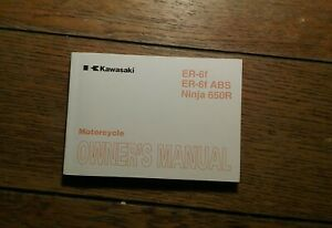 KAWASAKI  ER 650 F EX250 C9 OWNERS MANUAL / HANDBOOK / BOOKLET.