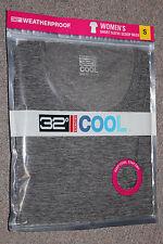 *NEW 32 Degrees Women's Weatherproof Scoop Neck Cool Tee Shirt Gray L #1169