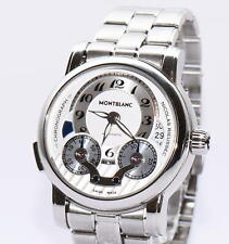 Montblanc Nicolas Rieussec Stahl Uhr Ref 7138 Box Papiere von 2012