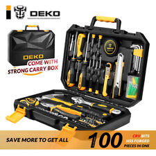 DEKO 100 PCS Tool Set Auto Repair Mixed Tool Combination Package Hand Tool