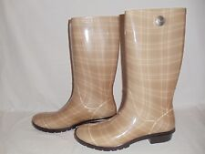 NEW Authentic UGG Australia Shaye Plaid Rain Boots w/ cream 1013999 Womens Sz 10