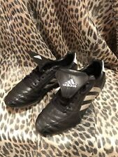 Used Adidas Traxion Soccer Cleats Men's Size 7 Art# 011009 Black Silver [SB28]