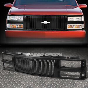 FOR 94-00 CHEVY C10 C/K/TAHOE/BLAZER FRONT BUMPER BLACK VERTICAL GRILLE GUARD