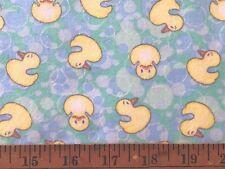 Flannel Fabric Duckling Blue Yellow Green BTHY