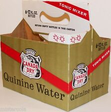 Vintage soda pop bottle carton CANADA DRY QUININE WATER new old stock n-mint