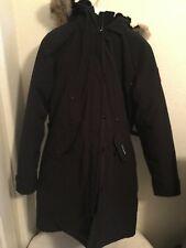CANADA GOOSE KENSINGTON LONG BLACK PARKA JACKET WINTER COAT SIZE XL
