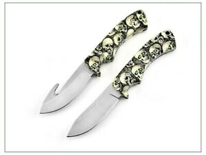 Drop Point Knife Fixed Blade Hunting Tactical Combat Survival With Rope Cutter S