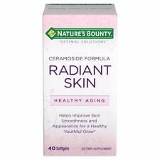 Nature's Bounty Radiant Skin Ceramocides 40 Softgels, Exp 05/19, Lot of 17