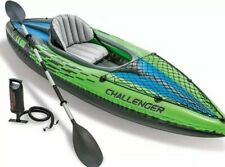 Intex Challenger 68305 K1 Kayak Single Inflatable Canoe Water Sports Green/Black