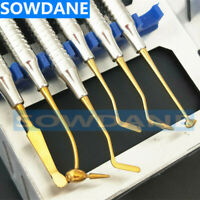 Dental Composite Resin Filling Spatula Titanium plated Head  Disinfection Box
