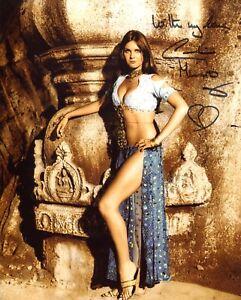 007 Bond girl Caroline Munro signed 8x10 Sinbad movie photo