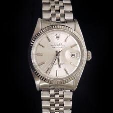 Rolex Datejust Acciaio Inox 18K Bianco Orologio in Oro Silver Jubilee Bracciale