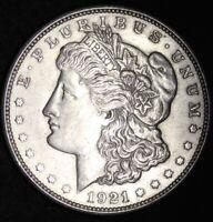 1921-D Morgan Silver Dollar VG / VF90% SILVER FREE SHIPPING! ONLY DENVER MINT!